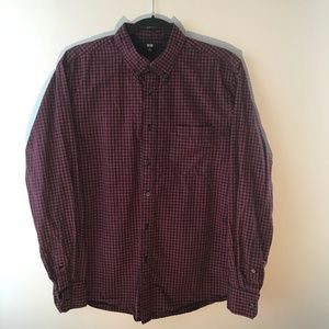 UNIQLO Button Up Shirt Red - USED